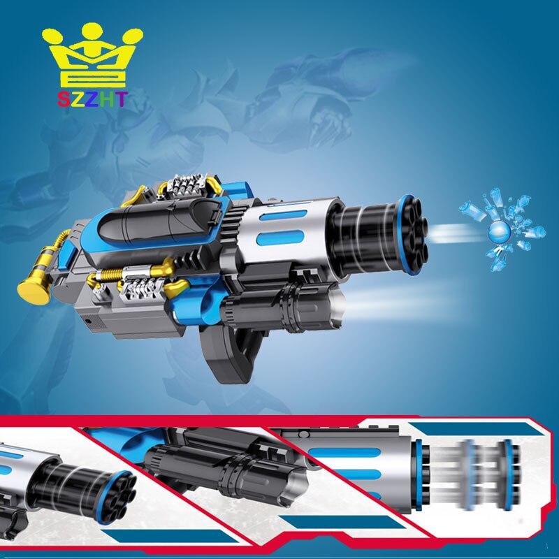 Électrique Télescopique Burst D'eau Balles Gatling Canon Jouet Guns Weapon En Plein Air CS Jeu Paintball Machine pour Enfants Garçons Cadeaux