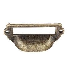 82x40mm Zinc Alloy Antique Brass Label Pull Frame Handle File Name Card Holder For Cabinet Drawer Box Case Furniture Hardware цена в Москве и Питере