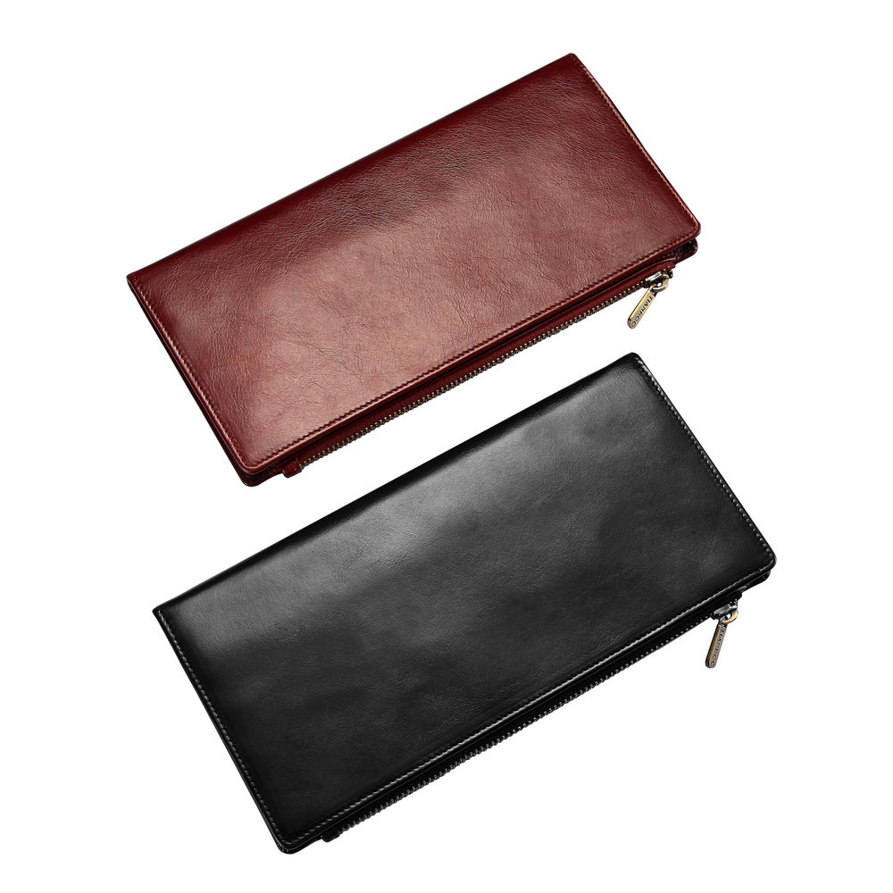 Genuine Oil Wax Leather RFID Blocking Solid Designer Long Wallet Card Cash Passpost Holder Travel Money Pocket Coin Purse Men women fashion designer double zipper oil wax genuine leather wallet rfid blocking long purse day clutches for men high quality