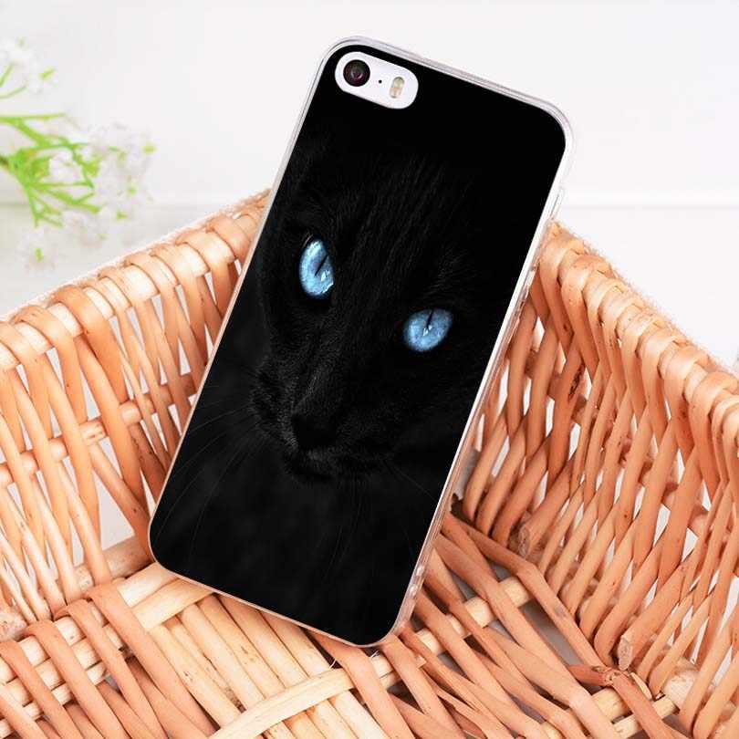 MaiYaCa 黒猫見つめに目を販売! 高級クール電話ケース iphone 11 プロ 8 7 66S プラス X 5S 、 SE XR XS XS 最大バックカバー