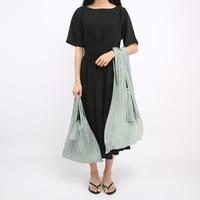 Portable Large Foldable Nylon Environmental Pleat Bucket Totes Splice Women Shoulder Shopping Bags Lightweight Durable Handbag