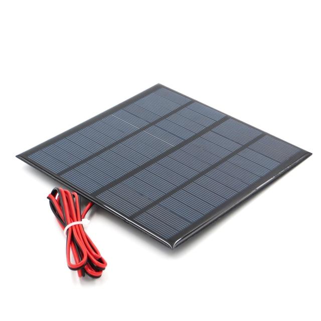 12V 18V פנל סולארי עם 100/200cm חוט מיני שמש מערכת DIY עבור סוללה טלפון סלולרי מטען 1.8W 1.92W 2W 2.5W 3W 1.5W 4.5W 5W