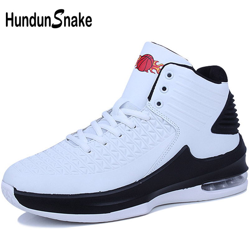 Tovar Hundunsnake 2018 Men Basketball Shoes White Leather Sneakers