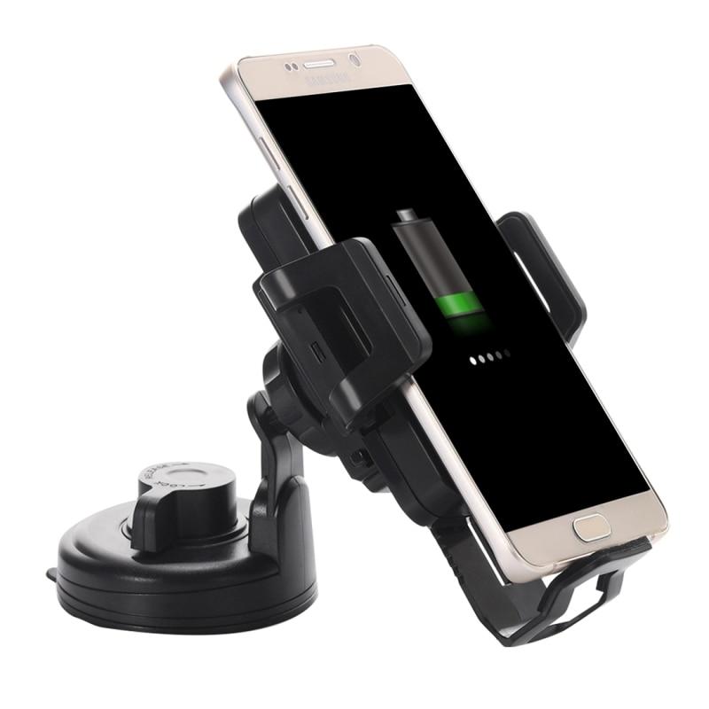12-24V Qi Standard Wireless <font><b>Charger</b></font> <font><b>Car</b></font> <font><b>Suction</b></font> <font><b>Cup</b></font> Mount <font><b>Holder</b></font> Stand <font><b>for</b></font> <font><b>Samsung</b></font> <font><b>Galaxy</b></font> S6 edge Plus iPhone Width: 5.3-9.3cm