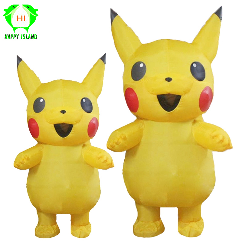 Inflatable Costume Mascot Lovely Yellow Pikachu For Kids Adult Christmas Carnava