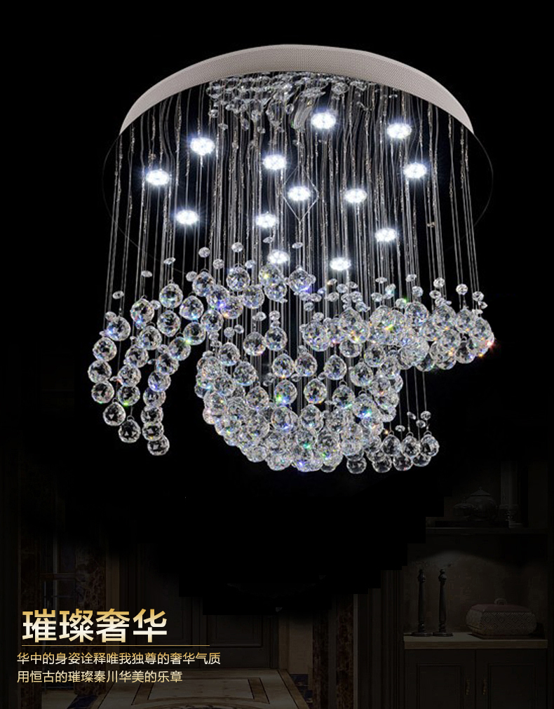 new design large crystal chandelier lights Dia80*H100cm ceiling ...