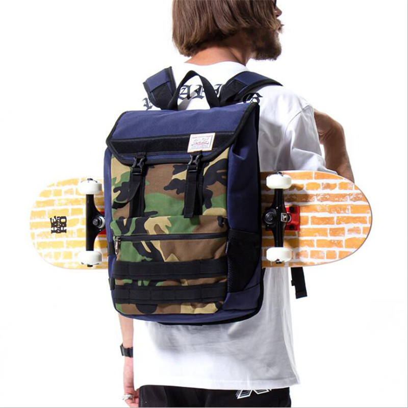 High Quality Nylon Skateboard Backpack 47x27cm Waterproof Shoulder Skateboarding Bags For Men Fishboard Sports Bag