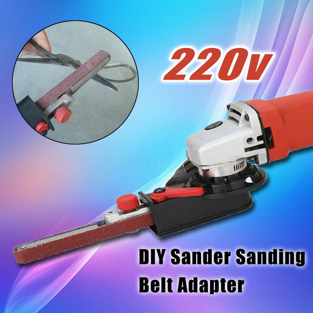 Sander Sanding Belt Adapter Head Convert M10 for 100mm Electric Angle Grinder CLH sander machine sanding belt adapter head convert m10 with sanding belts for 4 electric angle grinder mayitr woodworking tools