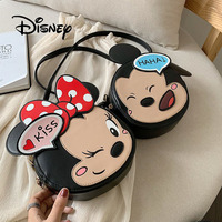 Disney Fashion Cartoon Mickey Minnie Mouse Crossbody Bags Kawaii Mom Shoulder Bag Children Girl's Mini Outdoor Travel Bags