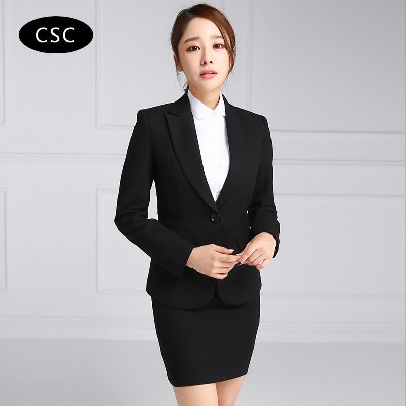 Women skirt suit woman formal business suit for women for Girls suit design
