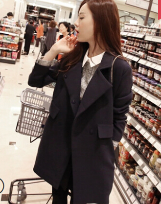 Pardessus Nouvelle Mode Sections Black Tranchée khaqi Femmes D'hiver De Mélangée Mince Cp1112 Longues Manteau gray Belle Laine Sqwf7Txdf