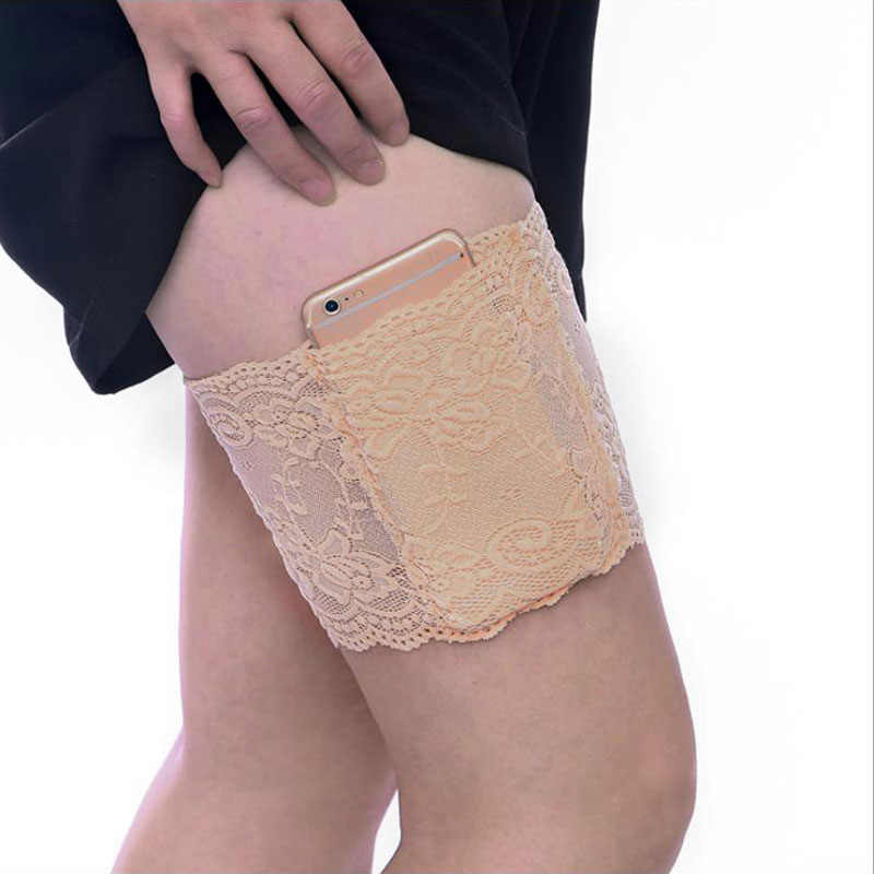 1 Piece Garters Leg Warmers Thigh Socks Skid-proof Lace Women Female Cuff Fashion Accessory Anti-skid Thigh Foot Care Tool