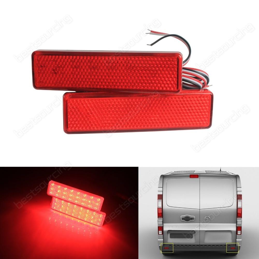 2x из светодиодов задний бампер отражатель тормоз остановить хвост свет для Опель /Воксхолл Виваро отсортированы в (CA326)