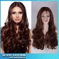 Baby Hair Around 6A Grade Heat Resistant Synthetic Hair Wigs #6color Hair Body Wave Glueless Synthetic Lace Front Wig