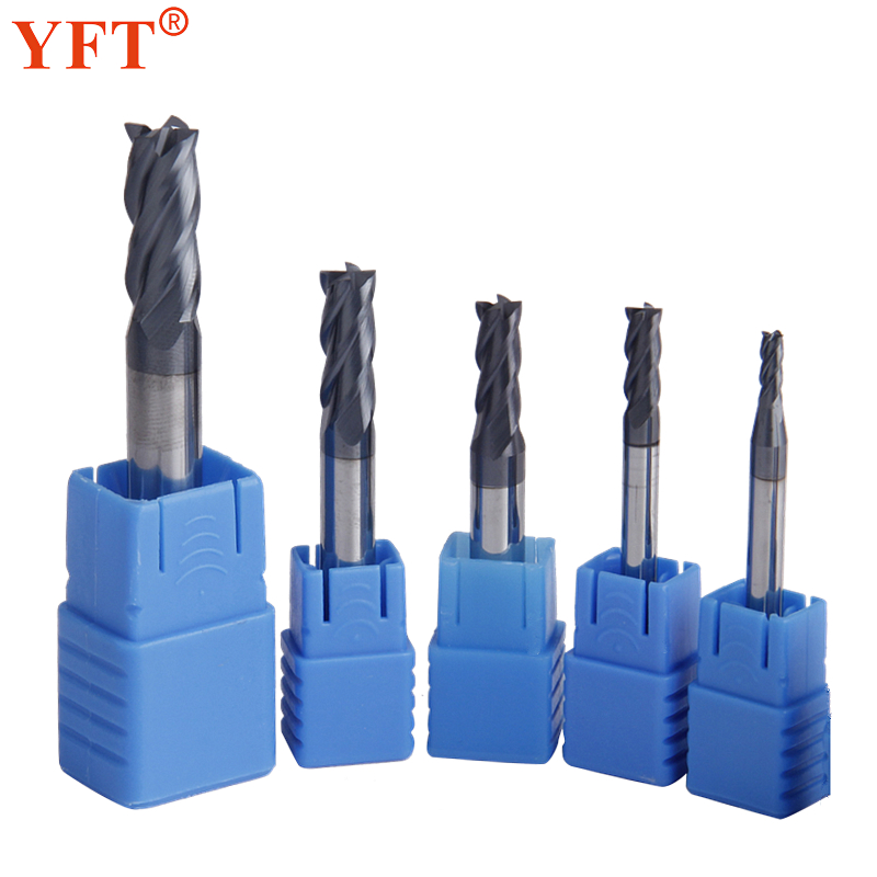 YFT 5pcs/set Tungsten Carbide Milling Cutter 3/4/5/6/8mm 4-Flute End Mills CNC Router Bit For Cutting Metal Tools yft carbide end mills diameter 20mm 4 blade tungsten steel router milling cutter hrc 45 cnc tools page 8