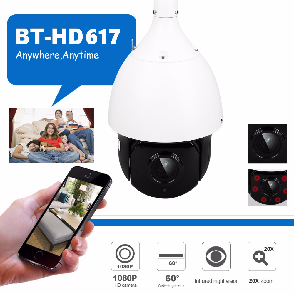 1080P PTZ Dome Camera CVI TVI AHD CVBS 4 In 1 High Speed Dome PTZ Camera 2.0 Megapixel Sony Cmos 20X Optical Zoom Waterproof 33x zoom 4 in 1 cvi tvi ahd ptz camera 1080p cctv camera ip66 waterproof long range ir 200m security speed dome camera with osd