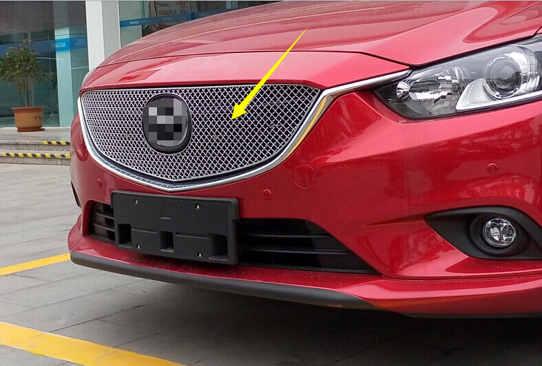 NEW!! Front Mesh Centre Grille Grill Honeycomb Cover Protector for Mazda 6 M6 Atenza 2013 2014 2015 car styling for mazda 6 m6 atenza 2014 2017 front bumper lower grille protector plate lip cover sticker trim decorative strip