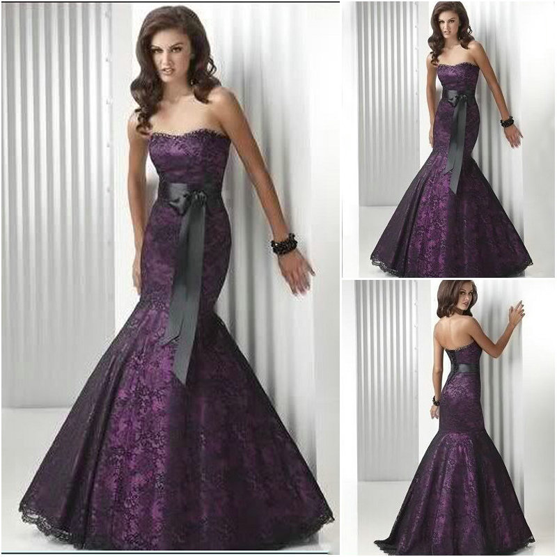 Aliexpress.com : Buy WA0701 Sexy real wedding dress purple and ...