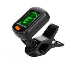 AT-101 Digital Clip Type Electric Digital Guitar Tuner Foldable High Sensitivity Rotating Clip Musical Instrument Guitar Tuner(China)