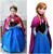 Promoção roupa dos miúdos Elsa ana Princesa rainha da neve Vestido da menina bebê Dos Desenhos Animados Do Traje Do Vestido Extravagante para o casamento Vestidos Cosplay