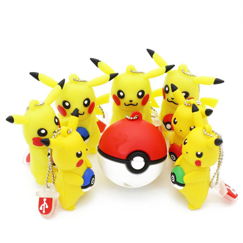 JASTER Flash Drive Elf Ball Pen Drive 64gb Pokemon Pikachu Pendrive 32gb 16gb 8gb 4gb Usb Memory Stick Usb 2.0 Free Shipping