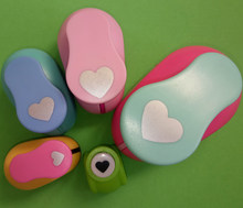 5pcs Heart shape EVA foam punch paper punch for greeting card handmade ,Scrapbook Handmade puncher free shipping(China)