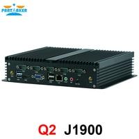 Nuevo Ubuntu mini ordenador x86 quad core J1900 mini ordenador incrustado sin ventilador 12V soporte 1 lector
