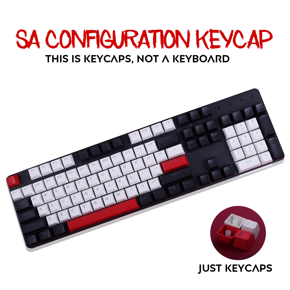 104 Key SA Height Profile Thick Profile Keycaps Carbo Backlit PBT Key Cap For Cherry mx