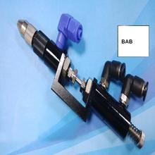 Ajuste fino de Doble acción top pin dedal tipo válvula de dispensación de líquido/de silicona válvula dispensadora/solo dispensador de líquido válvula