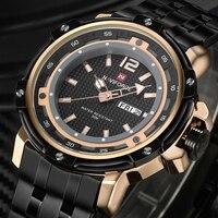 NAVIFORCE Men Watches Top Brand Luxury Men Military Wrist Watches Full Steel Men Sports Watch Waterproof