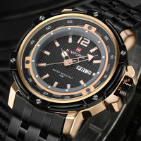 NAVIFORCE Men Watches Top Brand Luxury Men Military Wrist Watches Full Steel Men Sports Watch Waterproof