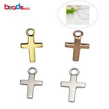 Beadsnice чистого серебра 925 крест талисманы стерлингового серебра Шарм Элегантный для diy ювелирных изделий ID28441