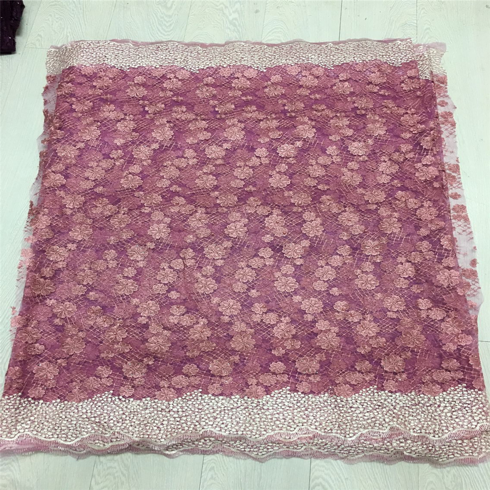Latest Peach African Lace Fabric 2018 High Quality Lace Embroidery French Mesh With Beads Nigerian Lace Fabrics Material HJ52-1 Latest Peach African Lace Fabric 2018 High Quality Lace Embroidery French Mesh With Beads Nigerian Lace Fabrics Material HJ52-1