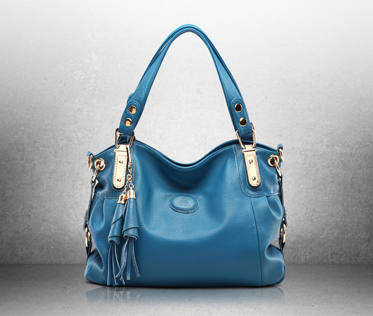 Big Shoulder Bags for Women 2017 Luxury Designer Handbags New Ladies Genuine Leather Bag Female Causal Tote Bag Black Blue A058 2017 new arrival designer women leather handbags vintage saddle bag real genuine leather bag for women brand tote bag with rivet