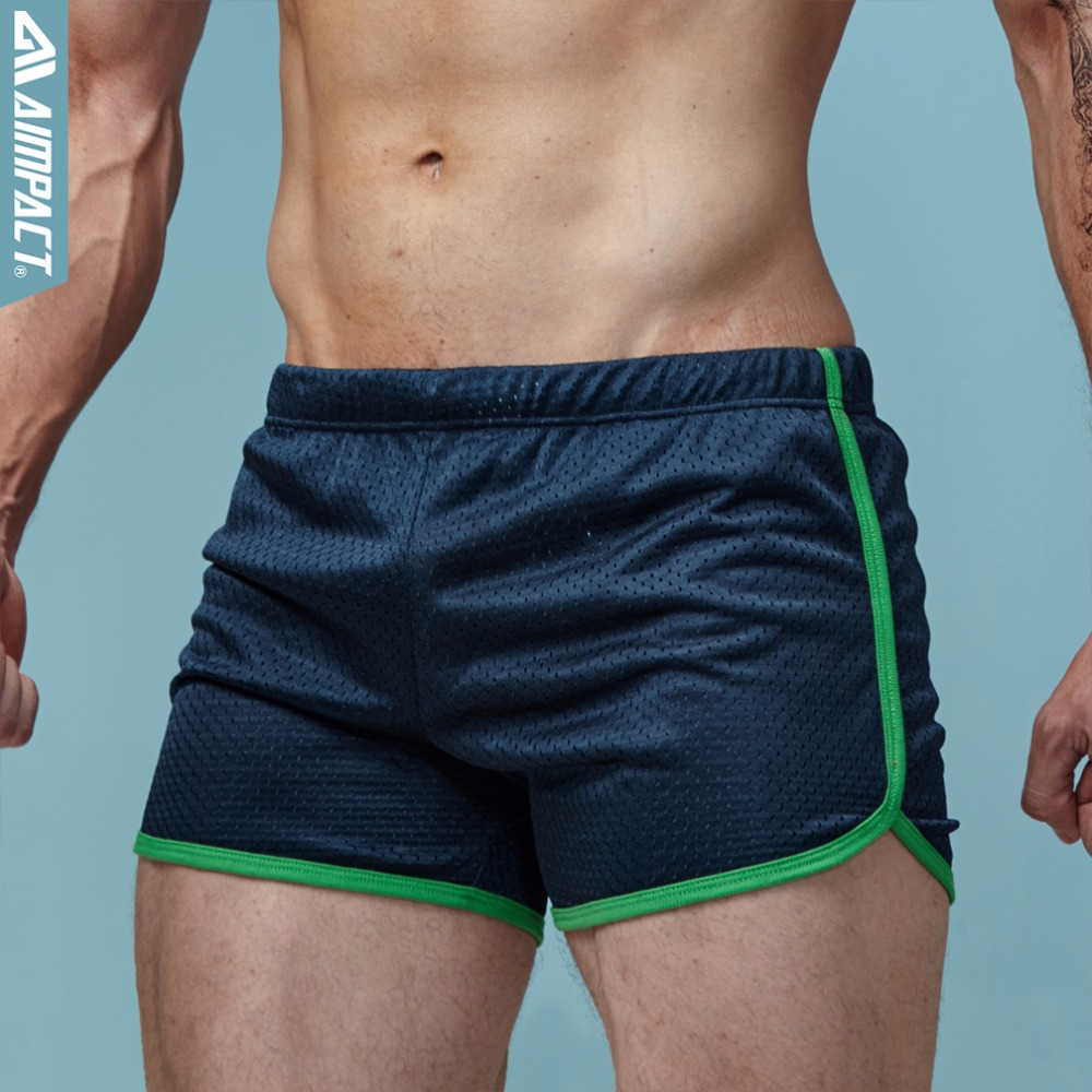 Aimpact Shorts Men Fashion Classic Solid Mesh Men's Shorts Fast Dry Retailer Men's Trunks AMC11 Summer Elastic Waist Mens Shorts