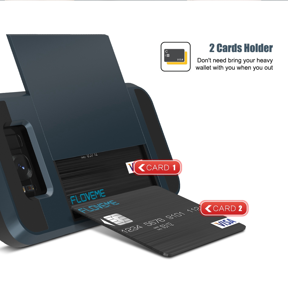 For Samsung S8 Plus Armor Case Galaxy S8 Hidden Card Slot Phone Cases  (5)