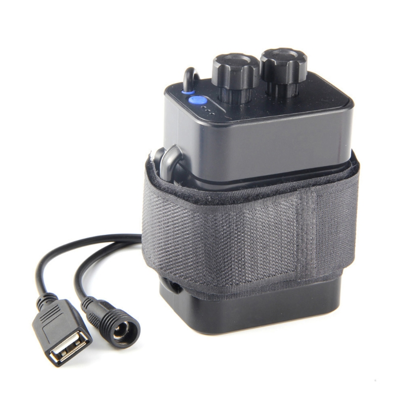 DC 8.4V USB 5V 6x 18650 Battery Storage Case Box For Bike LED Light Cell Phone - L060 New hot