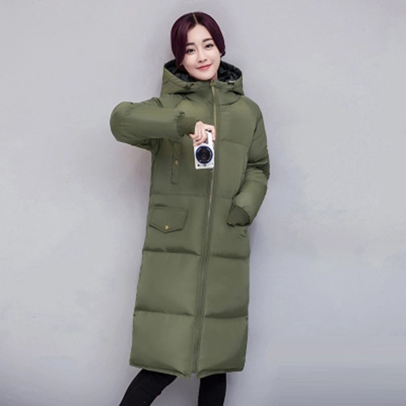 New 2017 Winter Women Coat Hooded Thicken Warm Long Jacket Female Outerwear Parka Ladies Coats Snow Wear Plus Size 3XL RE0086