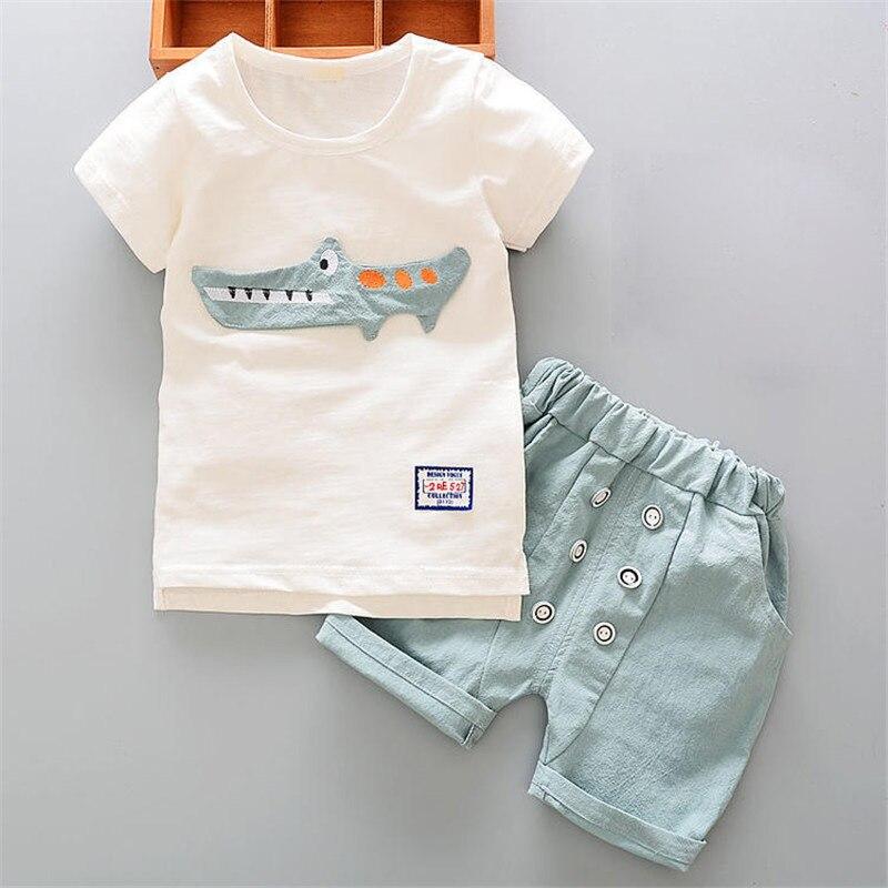 Bibicola Bebés Ropa set recién nacido Niños camisa blanca de dibujos  animados + Pantalones cortos traje para bebe Niños deportes traje niños  ropa de verano ... 6ecee7e7592b1