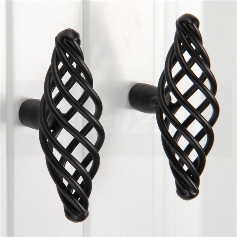 1 pcs Knob Pull Handle Antique Bird Cage Cabinet Knobs Cupboard Dresser Drawer Door Pull Handles Modern Zinc Aolly 30mm stainless steel zinc satin knob cabinet door drawer cupboard pull handle with screw