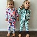 A roupa do bebê Inverno Romper Do Bebê Unisex printi algodão de Manga Longa Romper bebê meninos meninas Dos Desenhos Animados Macacão de Bebê Menino Roupas de Menina