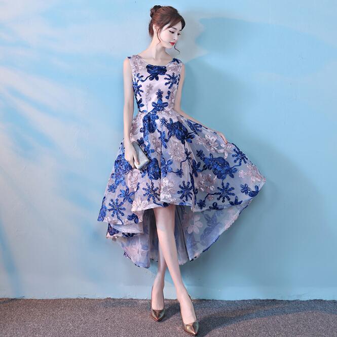 Jacquard Fabric   Cocktail     Dresses   short front long back 2019 evening party Elegant A Line 2019 formal Party   Dresses   prom   dress