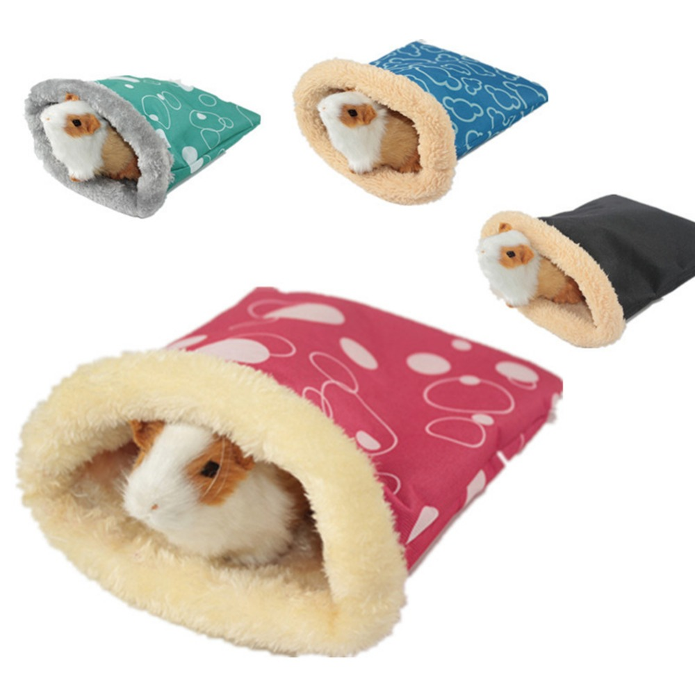 Warm Plush Hamster Bed House Soft Guinea Pig Bed Rat Nest Small Animals Mouse Sleeping Bag Cavie Hamster Cage House Accessories
