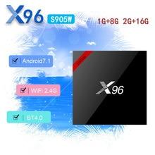 X96S905WAndroid 7.1 Latest 18.0 version TV Box Amlogic S905W 1G/2G 8G/16G Support 2.4GHz WiFi HD 4K Media Player pk x96mini