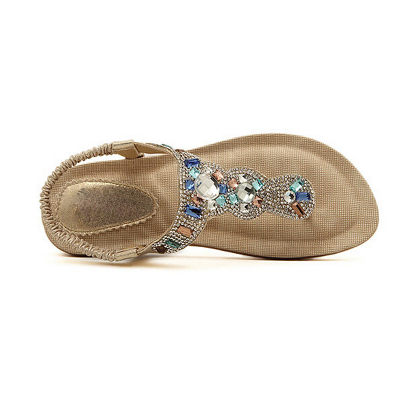 HEE-GRAND-Women-Sandals-Flat-with-Bling-Rhinestone-Fashion-Flip-Flop-High-Quality-Bohemia-Beach-Shoes