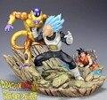 FÃS MODELO MRC cópia da versão De Dragon Ball Z 30 cm de cabelo azul Vegeta Frieza VS ouro resina gk action figure toy para Coleta