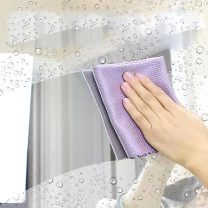 quick dry glass Table Mirror window furniture kitchen wash dishes rag microfiber towels dust cleaning cloths reusable lint free in Cleaning Cloths from Home Garden