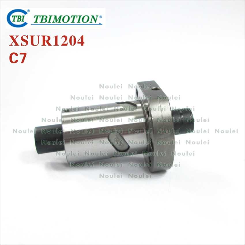 Taiwan TBI Ball nut XSU1204 SFU1204 Rolled C7 for 1204 ballscrew taiwan tbi 2040 ballscrew 1000mm lead 40mm pitch with sfe2040 nut 4 rows steel ball high speed screw for cnc kit