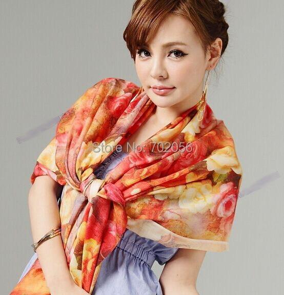 new arrival wool   wrap   poncho   scarf     wrap   shawl womens Printing scar factory sale Retail wholesale 180*65cm #3786