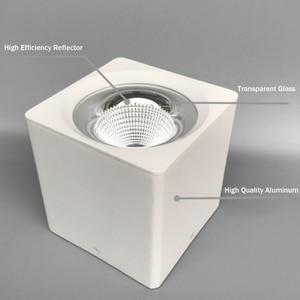 Image 2 - DBF luz empotrada montada en la superficie, cuadrada, blanca/negra, sin cortar, alta potencia, 10W, 20W, 30W, foco de techo, 3000K/4000K/6000K, AC110V, 220V